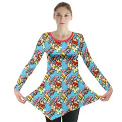 Comic Dogs Long Sleeve Tunic  by TwisterSister