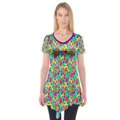 Jam Room Floor Short Sleeve Tunic  by TwisterSister