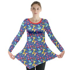 Merry Balloon Animals Long Sleeve Tunic  by TwisterSister