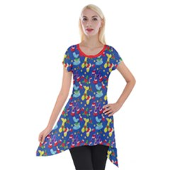 Merry Balloon Animals Short Sleeve Side Drop Tunic by TwisterSister