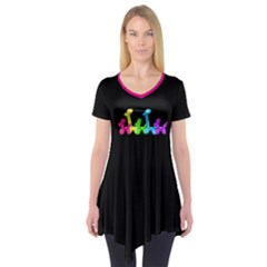Pop Parade Short Sleeve Tunic  by TwisterSister