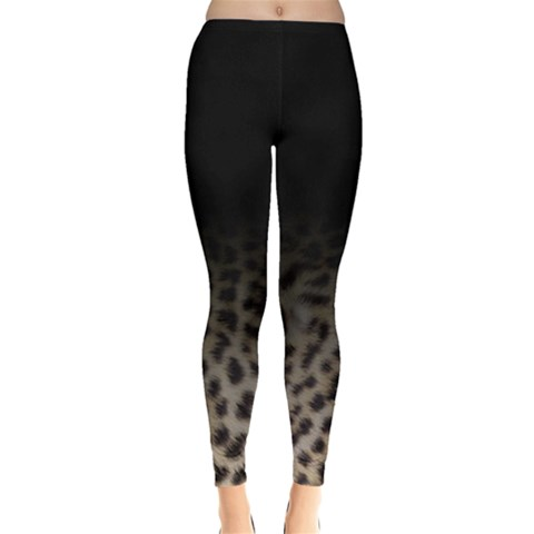 Ombre Leopard Print Animal Print Leggings