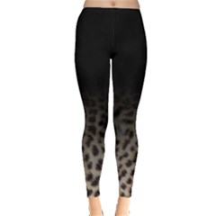 Ombre Leopard Print Animal Print Leggings  by greenthanet
