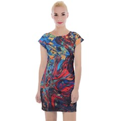 Marbled  Cap Sleeve Bodycon Dress by chihuahuadresses