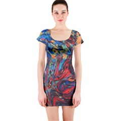 Marbled Short Sleeve Bodycon Dress by chihuahuadresses