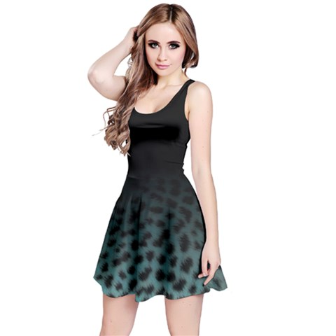 Ombre Leopard Print Animal Print Reversible Sleeveless Dress