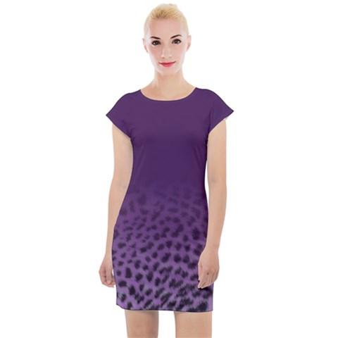 Ombre Leopard Print Animal Print Cap Sleeve Bodycon Dress