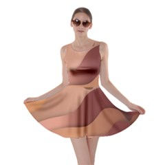 Autumn Copper Gradients Copyspace Skater Dress