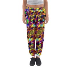 Color Mosaic Background Wall Women s Jogger Sweatpants