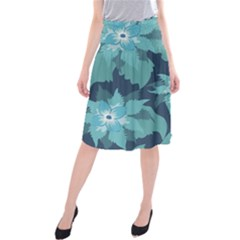 Graphic Design Wallpaper Abstract Midi Beach Skirt by Sapixe