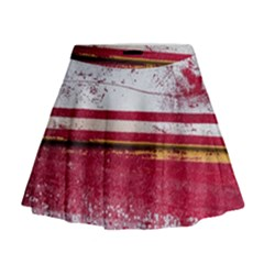Boat Chipped Close Up Damaged Mini Flare Skirt by Sapixe