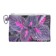 Beefsteak Plant Perilla Frutescens Canvas Cosmetic Bag (large) by Sapixe