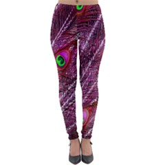 Peacock Feathers Color Plumage Lightweight Velour Leggings by Sapixe