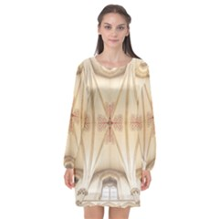 Wells Cathedral Wells Cathedral Long Sleeve Chiffon Shift Dress  by Sapixe