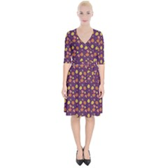 Autumn Leaves Wrap Up Cocktail Dress by greenthanet