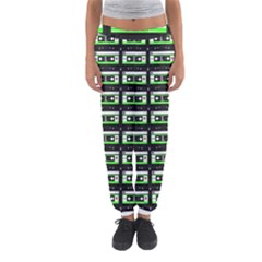 Green Cassette Women s Jogger Sweatpants by snowwhitegirl