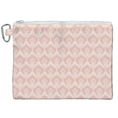 Damask Peach Canvas Cosmetic Bag (xxl) by snowwhitegirl
