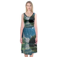 Landscape 1 Midi Sleeveless Dress