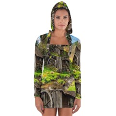 Landscape # 3 The Shed Long Sleeve Hooded T-shirt by ArtworkByPatrick