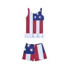 Us Flag Stars And Stripes Maga Kid s Boyleg Swimsuit by snek