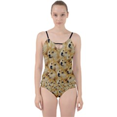 Doge Meme Doggo Kekistan Funny Pattern Cut Out Top Tankini Set by snek