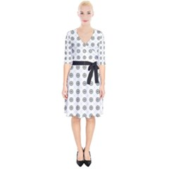 Logo Kekistan Pattern Elegant With Lines On White Background Wrap Up Cocktail Dress by snek
