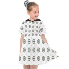 Logo Kekistan Pattern Elegant With Lines On White Background Kids  Sailor Dress by snek