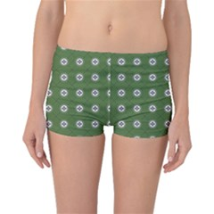 Logo Kekistan Pattern Elegant With Lines On Green Background Boyleg Bikini Bottoms by snek