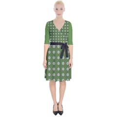 Logo Kekistan Pattern Elegant With Lines On Green Background Wrap Up Cocktail Dress by snek