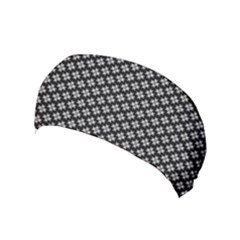 Logo Kek Pattern Black And White Kekistan Black Background Yoga Headband by snek