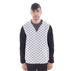Logo Kek Pattern Black And White Kekistan White Background Hooded Windbreaker (men) by snek