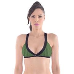 Logo Kek Pattern Black And Kekistan Green Background Plunge Bikini Top by snek