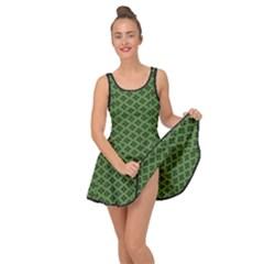 Logo Kek Pattern Black And Kekistan Green Background Inside Out Casual Dress by snek