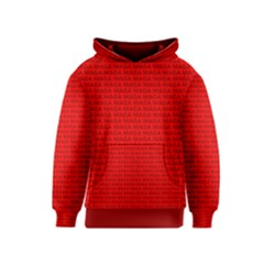 Maga Make America Great Again Usa Pattern Red Kids  Pullover Hoodie by snek