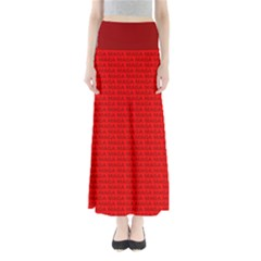 Maga Make America Great Again Usa Pattern Red Full Length Maxi Skirt