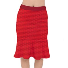 Maga Make America Great Again Usa Pattern Red Mermaid Skirt by snek