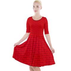 Maga Make America Great Again Usa Pattern Red Quarter Sleeve A-line Dress by snek
