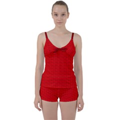 Maga Make America Great Again Usa Pattern Red Tie Front Two Piece Tankini by snek