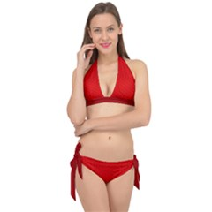 Maga Make America Great Again Usa Pattern Red Tie It Up Bikini Set by snek
