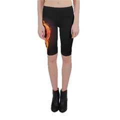 Qanon Letter Q Fire Effect Wwgowga Wwg1wga Cropped Leggings  by snek