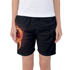 Qanon Letter Q Fire Effect Wwgowga Wwg1wga Women s Basketball Shorts by snek