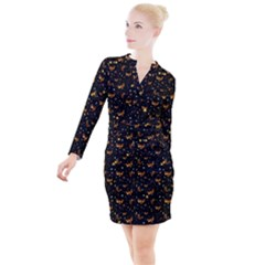 Phoenix Firebird Button Long Sleeve Dress by chihuahuadresses