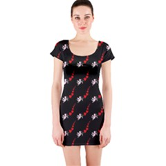 Cherubs And Hearts Short Sleeve Bodycon Dress by chihuahuadresses