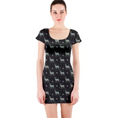 Christmas Reindeer Short Sleeve Bodycon Dress by chihuahuadresses