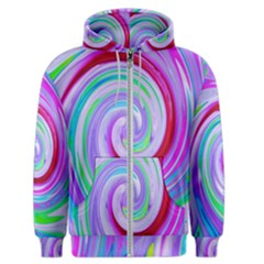Groovy Abstract Red Swirl On Purple And Pink Men s Zipper Hoodie by myrubiogarden