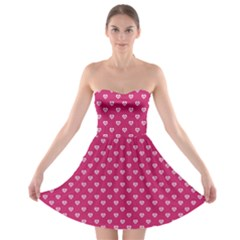Pink Hearts Strapless Bra Top Dress by chihuahuadresses