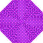 Abstract Dancing Diamonds Purple Violet Hook Handle Umbrella (Medium)