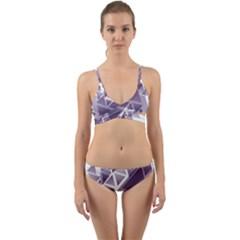 Geometry Triangle Abstract Wrap Around Bikini Set