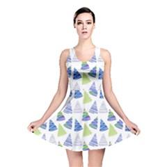 Christmas Pattern Background Reversible Skater Dress