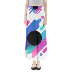 Cool Geometric Combination Of Decorative Circular Vector Background Full Length Maxi Skirt